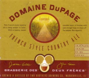 Domaine DuPage French Style Country Ale [Two Brothers Brewing Company]