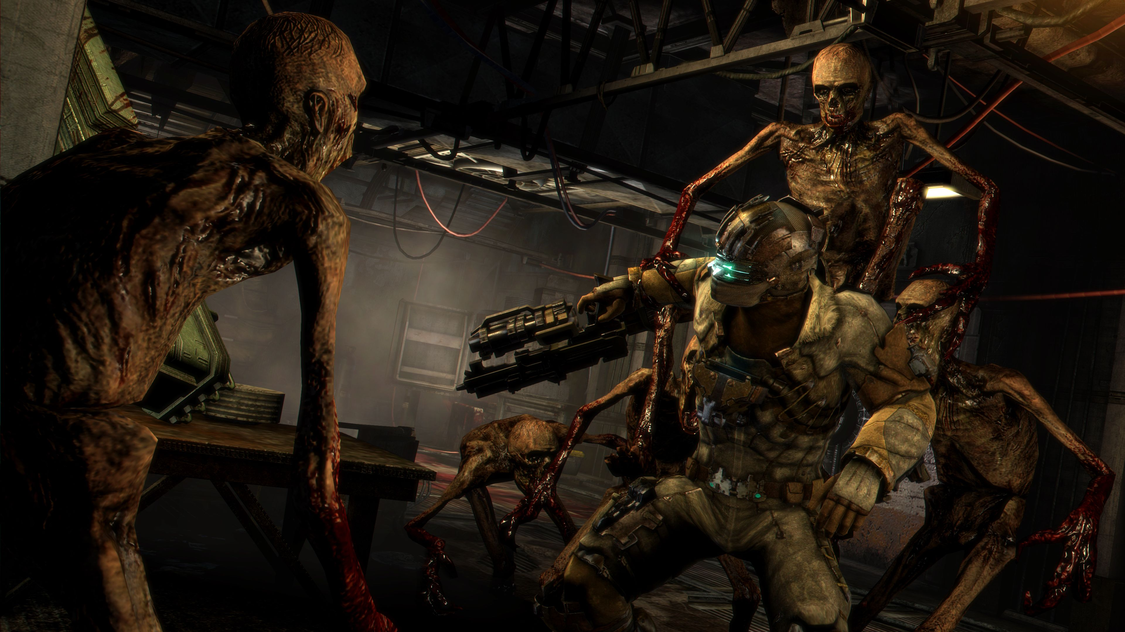 video game review dead space 3 xbox 360 the warning sign. Black Bedroom Furniture Sets. Home Design Ideas