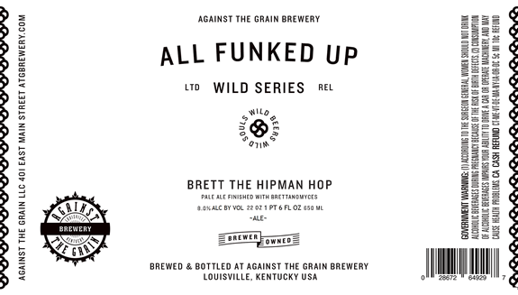 """Brett the Hipman Hop"" by Against the Grain Brewery"